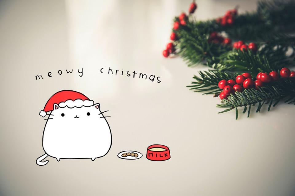 #FreeToEdit #christmas #kitty #cat #kawaii #remix #remixed #interesting