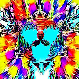 remix psychedelic colorful