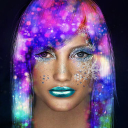 galaxyhair makeupart space fun