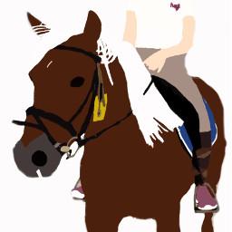 horse rider love draw forafriend