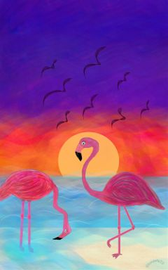 drawing wdpflamingo art flamingo animals