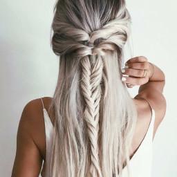 freetoedit cutehair blonde pastal braid