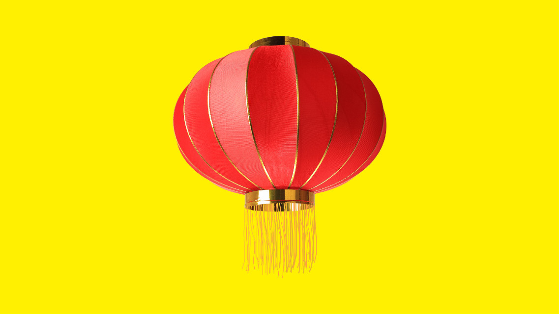 Make a wish. Inspire us with your creativity! #FreeToEdit #lantern #object #yellow #red