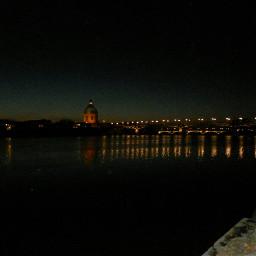 toulouse france night riverside bridge freetoedit