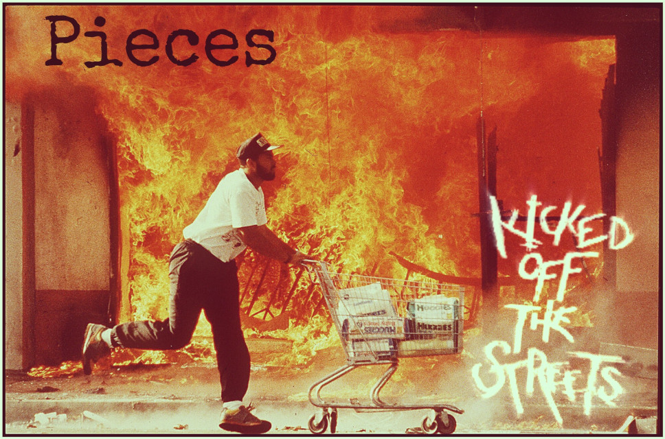 #pieces #kickedoffthestreets  #song #trackart #sgv #punk #grunge #kickass #thrash #fuckshitup #band #california