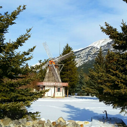 canmore canada winter windmill nature