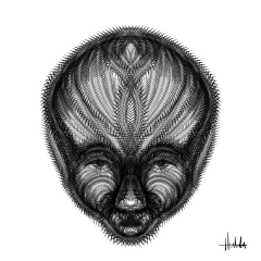 digitaldrawing face portrait blackandwhite