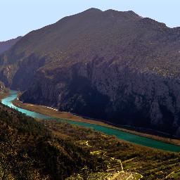 river canyon nature landscape