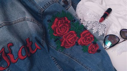 diy embroidery roses freetoedit