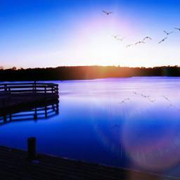 longexposure lake clipart purple reflection