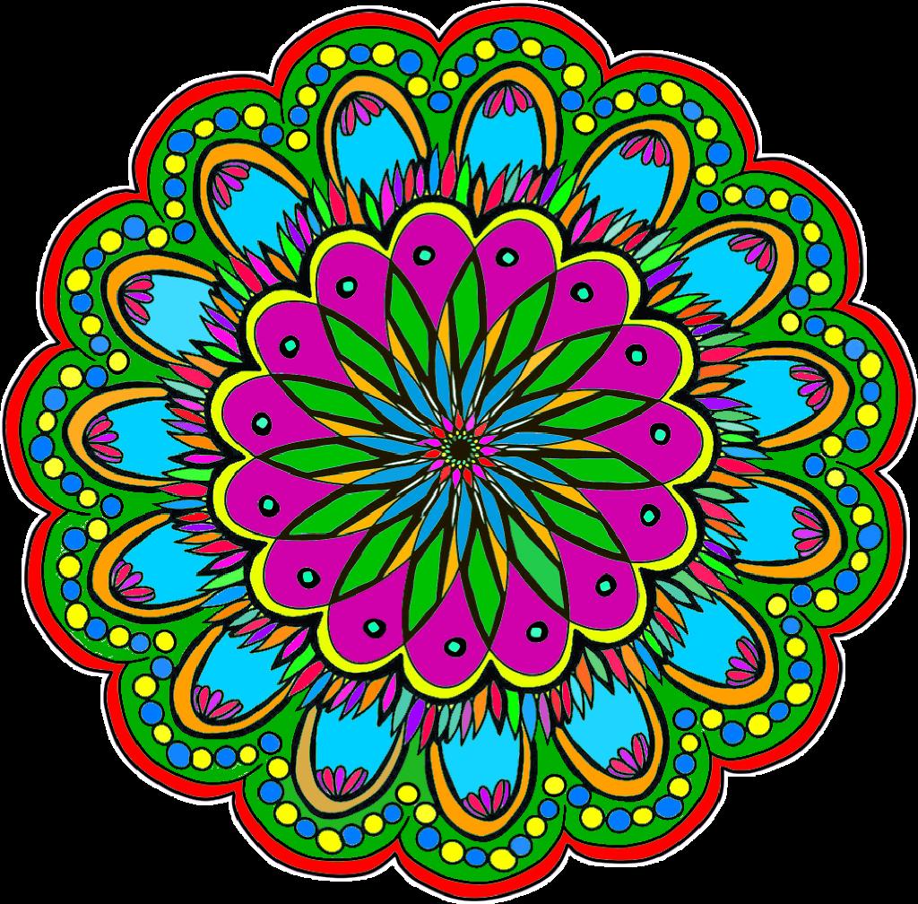 #colorful #mandala #FreeToEdit
