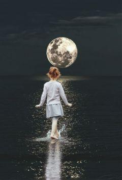 edited surreal fantasy moon