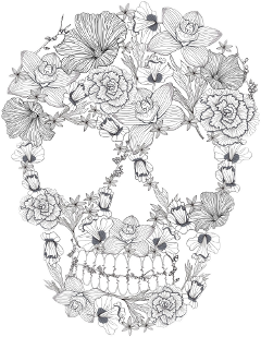 death dead skeleton head deadhead